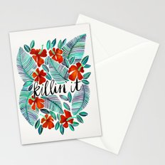 Killin' It – Tropical Red & Green Stationery Cards