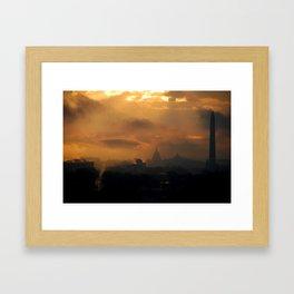 District Dawn Framed Art Print