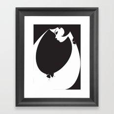 Girl in Black Framed Art Print