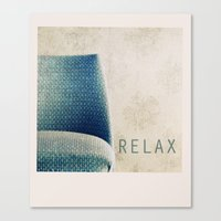 relax Canvas Prints featuring Relax by Claudia Drossert