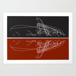 Moby Dating Art Print