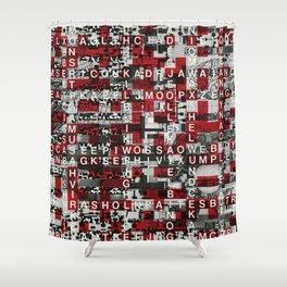 Paradox Network (P/D3 Glitch Collage Studies) Shower Curtain