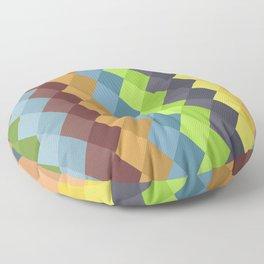 Retro rombs Floor Pillow