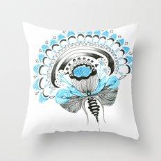 Blu(m)e Throw Pillow