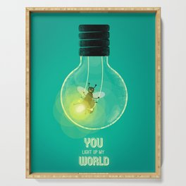 You Light Up My World Serving Tray