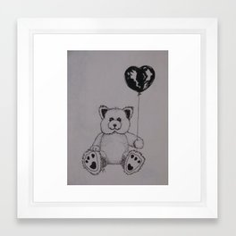 Baloon Bear Framed Art Print
