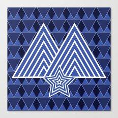 Winter Mountain Monark Pattern Canvas Print