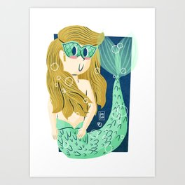 """Mask"" Mermaid Art Print"