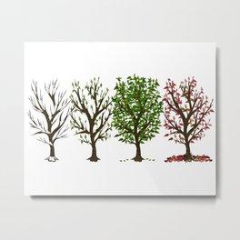 Four Seasons of Trees Metal Print