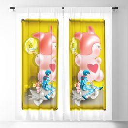 Time Bunny Girl and Love Robo Blackout Curtain