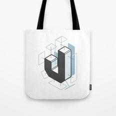The Exploded Alphabet / J Tote Bag