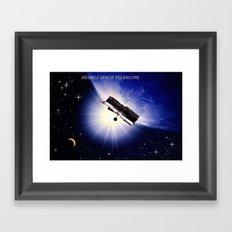HUBBLE SPACE TELESCOPE. Framed Art Print