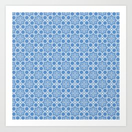 Let it Snow Geometric Print Seamless Pattern Art Print