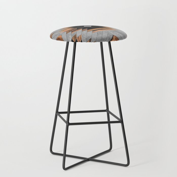 Urban Tribal Pattern No.6 - Aztec - Concrete and Wood Bar Stool