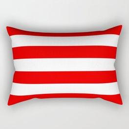 Stripe Red White Rectangular Pillow