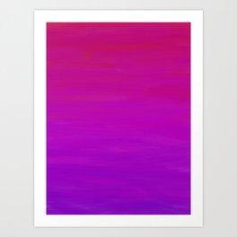 Purple Dusk Ombre Art Print