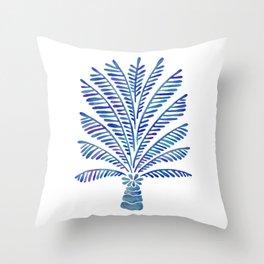 Palm Tree – Navy Palette Throw Pillow