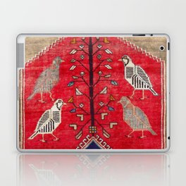 Persian Floral Rug With Several Birds Probably Quail Laptop & iPad Skin