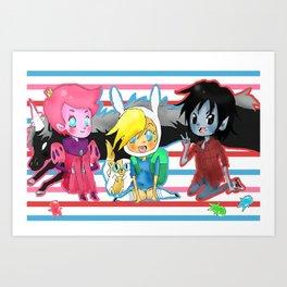 AT- Tiny amigos  Art Print