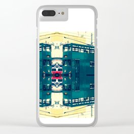 Tramway collage cityscape in Hong Kong Clear iPhone Case