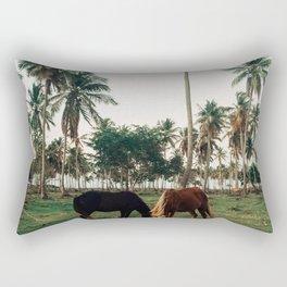 Horses in Samana, Dominican Republic Rectangular Pillow