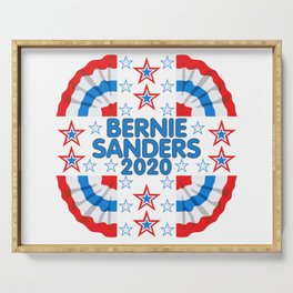 Bernie Sanders 2020 Red White Blue Banner Serving Tray