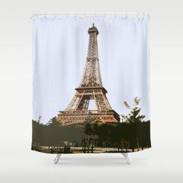 Eifel Tower Abstract Shower Curtain