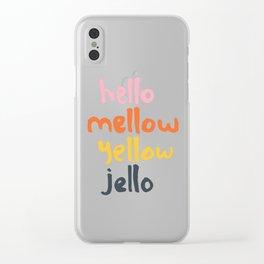 Hello Mellow Yellow Jello Clear iPhone Case