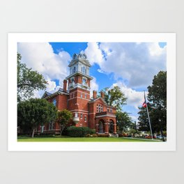 Historic Gwinnett County Courthouse Art Print