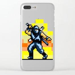 Ninja 8bit Clear iPhone Case