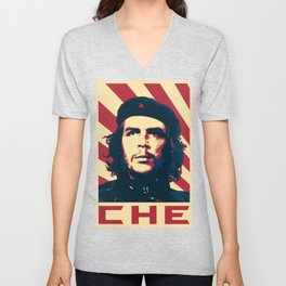 Che Guevara Retro Propaganda Unisex V-Neck