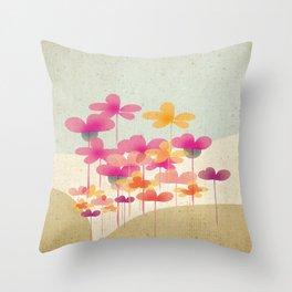 FlowerHill Throw Pillow