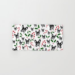 FRENCH BULLDOG LOVERS GIFTS ,GIFT WRAPPED FOR CHRISTMAS Hand & Bath Towel