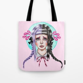 Crying in Pink Tote Bag