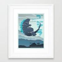 godzilla Framed Art Prints featuring Godzilla by Bringerzl