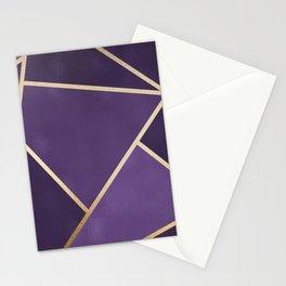 Beautiful Amethyst Gold Geometry Art Stationery Cards