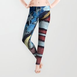 American flag barrel Leggings