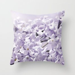 Lilacs  0107 Throw Pillow