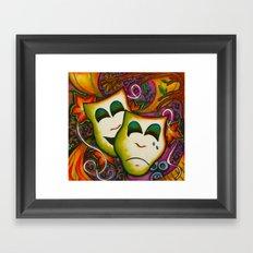 Masks (Theatre) Framed Art Print