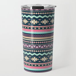 Colorful Aztec Tribal Pattern Travel Mug
