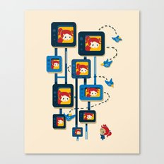 Me, Myself, and Some Birds Canvas Print