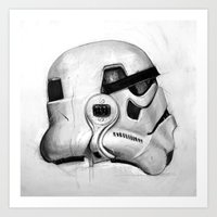trooper Art Prints featuring Trooper by CLASSICS