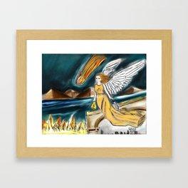 Karmic Angel of Fire Framed Art Print