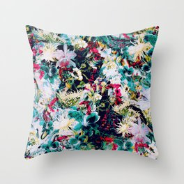 RPE ABSTRACT FLORAL -IV Throw Pillow