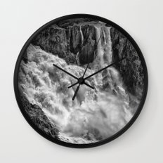Black and White Beautiful Waterfall Wall Clock