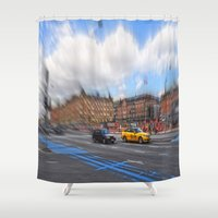 street Shower Curtains featuring street by  Agostino Lo Coco