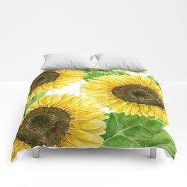 Sunflowers watercolor Comforters