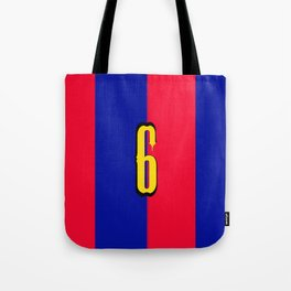 soccer team jersey number six Tote Bag