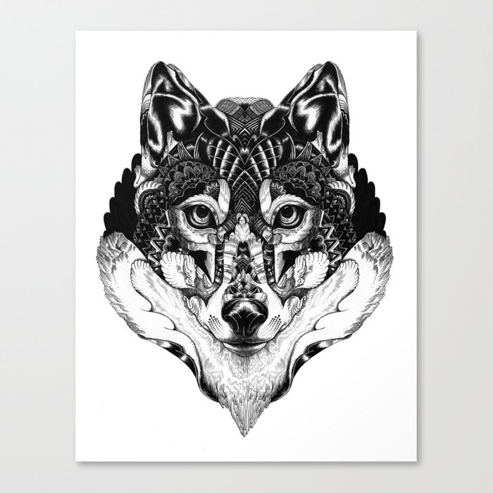 Wolf Head Canvas Print By Pfft Society6
