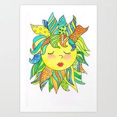 Rise & Shine Fantasy Sun Art Print
